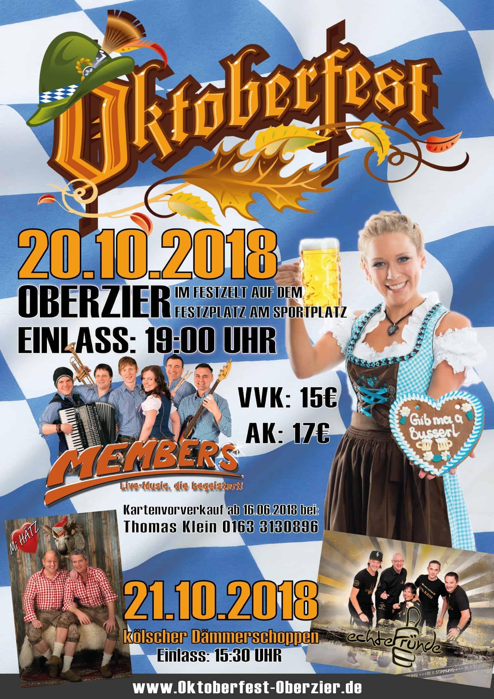 Plakat Oktoberfest 2018